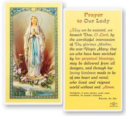 Prayer To Our Lady of Lourdes Laminated Prayer Cards 25 Pack [HPR274]