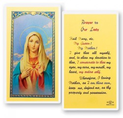 Prayer To Our Lady the Immaculate Heart of Mary Laminated Prayer Cards 25 Pack [HPR256]