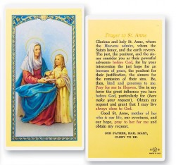 Prayer To St. Anne Laminated Prayer Cards 25 Pack [HPR613]