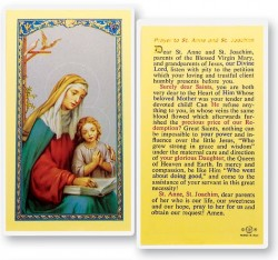 Prayer To St. Anne and Joaquin Laminated Prayer Cards 25 Pack [HPR614]