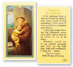 Prayer To St. Anthony Laminated Prayer Cards 25 Pack [HPR300]
