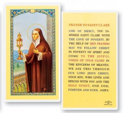 Prayer To St. Clare Laminated Prayer Cards 25 Pack [HPR426]