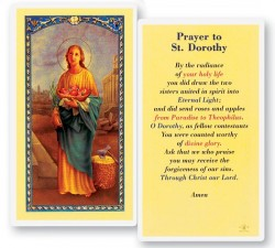 Prayer To St. Dorothy Laminated Prayer Cards 25 Pack [HPR432]