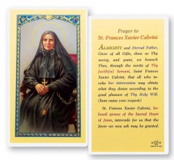 Prayer To St. Francis Cabrini Laminated Prayer Cards 25 Pack [HPR442]