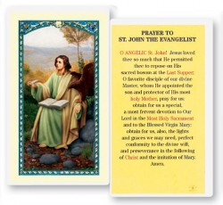 Prayer To St. John Evangelist Laminated Prayer Cards 25 Pack [HPR970]