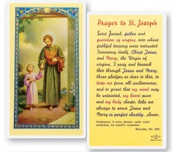 Prayer To St. Joseph Laminated Prayer Cards 25 Pack [HPR629]