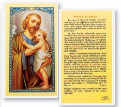 Prayer To St. Joseph Laminated Prayer Cards 25 Pack [HPR631]