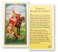 Prayer To St. Martin of Tours Laminated Prayer Cards 25 Pack [HPR494]