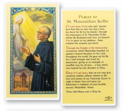 Prayer To St. Maximilian Kolbe Laminated Prayer Cards 25 Pack [HPR502]
