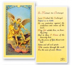 Prayer To St. Michael Laminated Prayer Cards 25 Pack [HPR330]