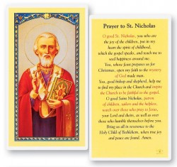 Prayer To St. Nicholas Laminated Prayer Cards 25 Pack [HPR508]