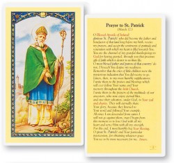 Prayer To St. Patrick Laminated Prayer Cards 25 Pack [HPR641]
