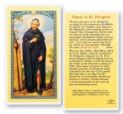 Prayer To St. Peregrine Laminated Prayer Cards 25 Pack [HPR515]