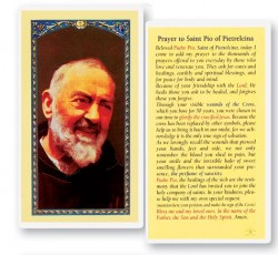 Prayer To St. Pio Laminated Prayer Cards 25 Pack [HPR523]