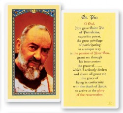Prayer To St. Pio Laminated Prayer Cards 25 Pack [HPR524]