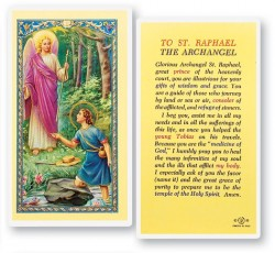 Prayer To St. Raphael Laminated Prayer Cards 25 Pack [HPR526]