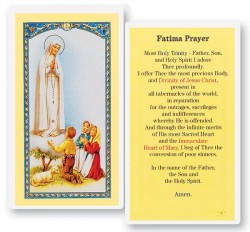 Prayer To The Our Lady of Fatima Laminated Prayer Cards 25 Pack [HPR225]