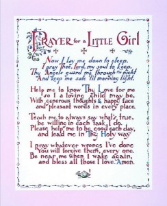 Prayer for a Little Girl Print - Sold in 3 per pack [HFA1202]
