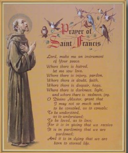 Prayer of St. Francis Gold Framed Print [HFA0181]