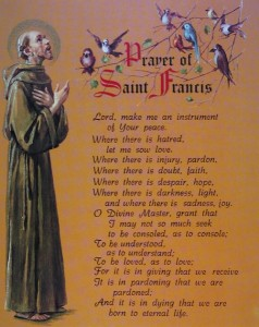 Prayer of St. Francis Print Cardstock - 3 per pack [HFA1166]