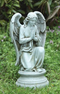 Elegant Praying Angel Garden Statue 17.75u0026quot; ...