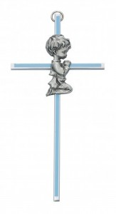 Praying Boy Blue Baby Cross - 6 [RBS2021]
