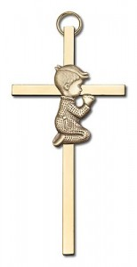 "Praying Boy Cross  4"" [CRB0002]"