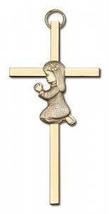 "Praying Girl Cross  4"" [CRB0001]"