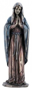 Praying Madonna Statue in Bronzed Resin - 11.75 inches [GSCH019]