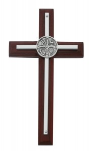 RCIA Cherry Stained Wall Cross 7 Inches [MV1015]