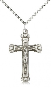 Raised Hearts Crucifix Necklace [BM0001]