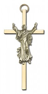 "Risen Christ Wall Crucifix  4"" [CRB0014]"