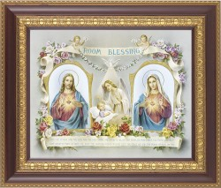 Room Blessing Framed Print with Sacred Heart and Immaculate Heart [HFP390]