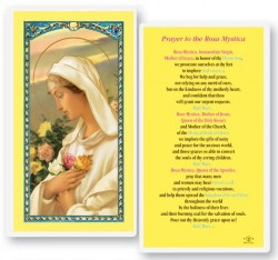 Rosa Mystical Laminated Laminated Prayer Cards 25 Pack [HPR224]