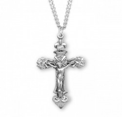 Roses and Thorns Men's Crucifix Necklace [HMM3290]