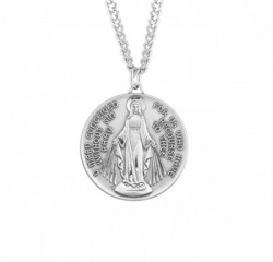 Round Men's Miraculous Medal Necklace [HMM3187]