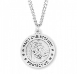 Round Men's Saint Christopher Classic Necklace [HMM3394]