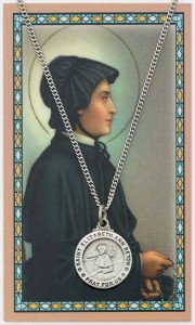 Round St. Elizabeth Ann Seton Medal with Prayer Card [PC0042]