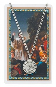 Round St. Francis Xavier Medal with Prayer Card [PCMV005]