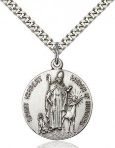 Round St. Hubert of Liege Patron of Hunting Medal [BM0729]