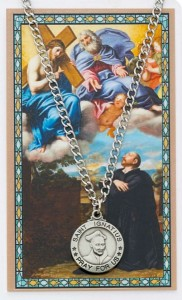 Round St. Ignatius of Loyola Medal with Prayer Card [PCMV017]