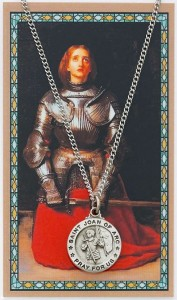Round St. Joan of Arc Medal with Saint Story Card [PC0050]
