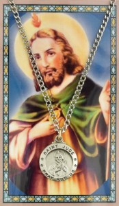 Round St. Jude Medal with Prayer Card [PC0052]