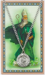 Round St. Patrick Medal with Prayer Card [PC0112]