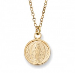Child Size Round Sterling Silver Miraculous Medal [CM2036]