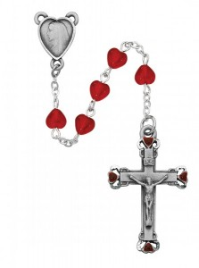 Ruby Red Heart Rosary [MVRB1079]