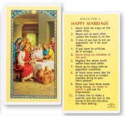 Rules For A Happy Marriage Laminated Prayer Cards 25 Pack [HPR744]