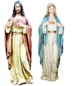 "Sacred Heart & Immaculate Heart Statue Set 37"" [SAB001]"