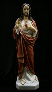 Sacred Heart Statue Hand Painted - 20 inch [VIC3123]