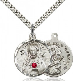 Sacred Heart and Our Lady of Mount Carmel Pendant [BLST0017]